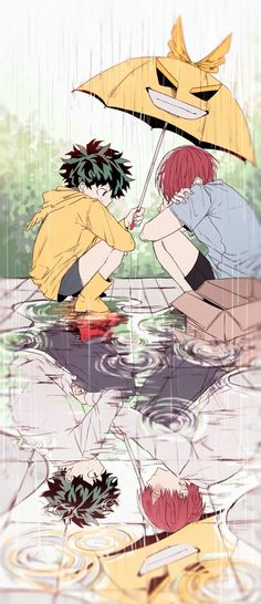 [My Hero Academia] Izuku Midoriya and Shouto Todoroki My Hero Academia Shouto, Hero Academia Characters, Anime Characters, Boku No Hero Academia Funny, Anime Love, Anime Guys, Otaku, 4 Panel Life, Anime Lindo