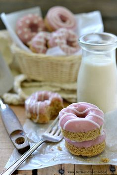 Valentine's Day Donuts (gluten, egg, & dairy-free) - Fork & Beans