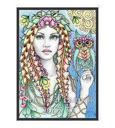 Original OOAK Fantasy ATC Fairy ACEO Fairies Firefly Owls Zentangle NJB Art Card | eBay