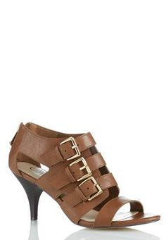 Cato Fashions 3 Buckle Shootie Heel Sandals #CatoFashions