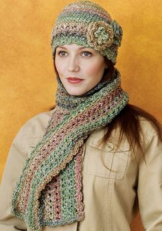 Cloche And Scarf By Katherine Eng - Free Crochet Pattern - (ravelry)