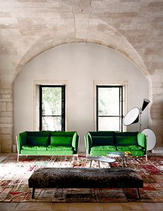 Very very very yummy green color sofas <3