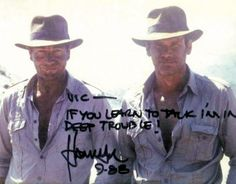Harrison Ford and his Indiana Jones stunt man Vic Armstrong
