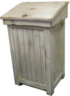 Primitive Trash Bin  ATC964 di CountryFurniture su Etsy