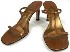 Lauren Ralph Lauren Shoes Womens Size 5 B Brown Leather Strappy Heels #LaurenRalphLauren #Strappy