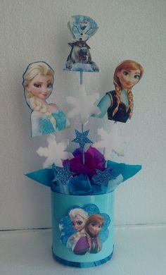 Centros De Mesa Infantiles- Frozen, Minions, Peppa - Bs. 699,00 en MercadoLibre