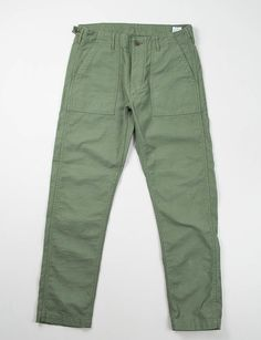 orSlow Slim Fit Green US Army Fatigue Pant
