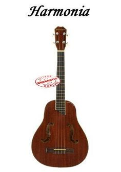 Harmonia Mahogany Egg Shape Ukulele W/F Hole UKLL-2 by Harmonia. $64.95. Harmonia Mahogany Egg shape ukulele with F hole style laminated mahogany top back & side rosewood fingerboard & bridge overall length: 28.5 inches. Easy to learn and play with a full rich sound.. Save 45% Off!
