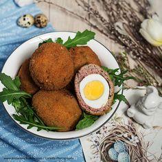 Schottische Eier » Kochrezepte von Kochen & Küche Avocado Toast, Eggs, Breakfast, Blitz, Food, Recipes With Eggs, Side Dishes, Meal, Chef Recipes