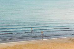 """Saatchi Art Artist Nouar Bellil; Photography, """"Private Beach // Morning Bath"""" #art Bath Art, Saatchi Art, Digital, Beach, Water, Artist, Photography, Outdoor, Gripe Water"""