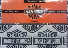 Harley Davidson 180 Count Bedding Sheet Set 4 Bedrooms Bikers Motorcycles Kids   eBay