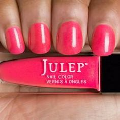 Julep - Caitlin- Shocking hibiscus with gold shimmer
