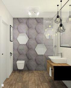 Mała łazienka w domu jednorodzinnym - Łazienka, styl minimalistyczny - zdjęcie…