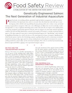 New Publication: Food Safety Review on Genetically Engineered Salmon