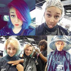 Changing things up....again.  #haircolor #cosmetologyschool #cos #hair #dye #hairdye #transformation #fun #creative #whatwillitbe #mystery #haha #colorremover #malibucolorremover #redken #redkenshadeseq #gloss #pureology #hairmasque #letsdothis #dorseyschools #dorsey #schoolofbeauty