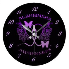 Customizable Purple clocks from Zazzle. Choose a pre-existing design for your wall clock or create your own today! Purple Butterfly, Butterfly Wall, Alzheimers Awareness, Wall Clocks, Colorful Backgrounds, Butterflies, I Shop, Prints, Design