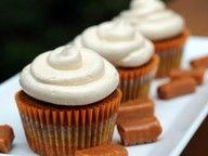 gallamore west: Pumpkin Cupcakes with Salted Caramel Buttercream