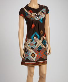Take a look at this Brown Sweater Print Tunic by Papillon Imports on #zulily today!