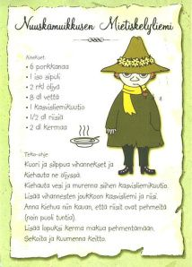 My Favorite Postcards: Recipes - Moomin's Snufkin Soup Old People Love, Finnish Recipes, Tove Jansson, Old Recipes, Cartoon Shows, Recipe Cards, Easy Drawings, Food Photo, Pop Tarts