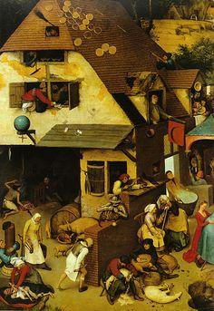 Pieter Bruegel d. Ä., Niederländische Sprichwörter, Ausschnitt (Pieter Bruegel the Elder, Netherlandish Proverbs, detail) | Flickr - Photo Sharing!
