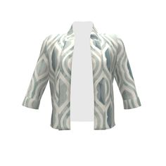 By Hand London Victoria Blazer made with Spoonflower designs on Sprout Patterns. Geometric pattern in pastel color