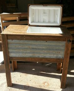 Rustic cooler stand