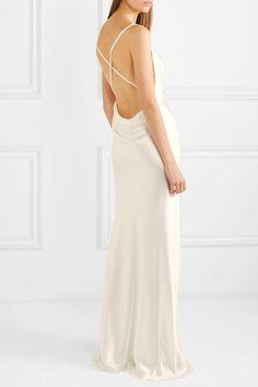 Galvan | Whiteley silk-satin gown | Slip simple wedding dress