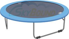 JumpKing Brand 14 Ft. (Frame Size) Standard Grade Blue / Black Round Trampoline Pad (Fits UP TO 7 In. Springs) (Compatible with JumpKing) (Pad Only) - TrampolinePartsCenter.com