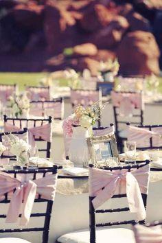 Idées decorations mariage rustique rose pastel
