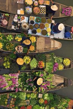 Floating markets in Thailand #food