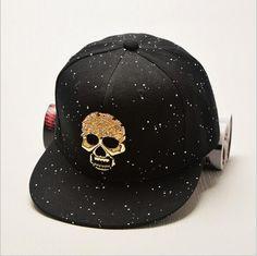 European And American Style Skeleton Head Rivet Hip Hop Baseball Hat Men Cap Flat Women Caps