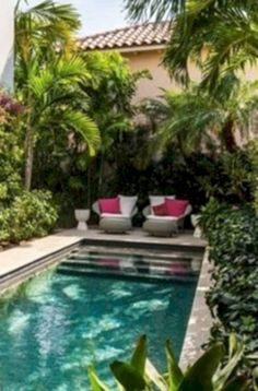 Below are the Small Pool Design Ideas For Backyard. This article about Small Pool Design Ideas For Backyard was posted … Small Swimming Pools, Small Backyard Pools, Small Pools, Swimming Pools Backyard, Swimming Pool Designs, Indoor Swimming, Small Backyards, Modern Backyard, Small Patio