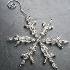 Like #jewelry for your #christmas #tree Crystal Snowflake Christmas Tree Ornament Gift for Mom
