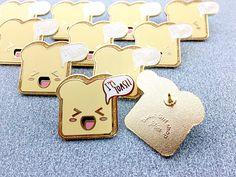 Kawaii I'm Toast Toast Glitter Hard Enamel Pin
