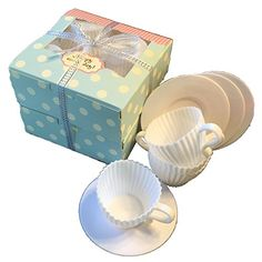 Silicone Teacup Cupcake Tea Party 8 cupcake Teacups and 8 Saucers 16 pieces ** Click image for more details-affiliate link.
