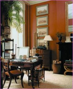 Exceptionnel Home Office   Modern British Colonial Design  . Find This Pin And More On EXOTIC  LIVING ROOMS ...