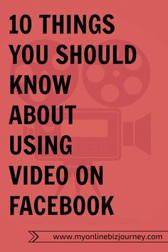 Video marketing + Facebook = EPIC !  Here's why every serious blogger should consider using videos on FB.