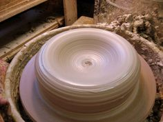 The Quarter Trick   pottery blog: emily murphy Cool way to make large pieces without breaking your arms centering a ton of clay