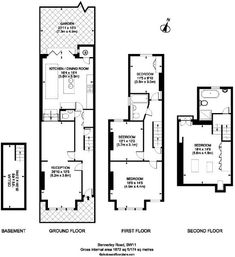 Neat Floor Plan For A Typical Terraced