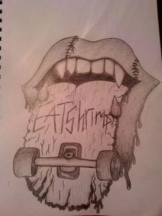 Skateboard drawing (drew the for my boyfriend) -caitlyn hensley