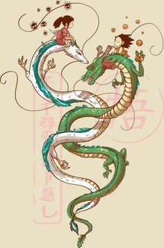 Dragon Ball / spirited away amor boy dark manga mujer fondos de pantalla hot kawaii Ghibli Tattoo, Japanese Dragon, Japanese Art, Chinese Dragon Drawing, Dragon Ball, Dragon 2, Art Studio Ghibli, Chihiro Y Haku, Dragon Artwork