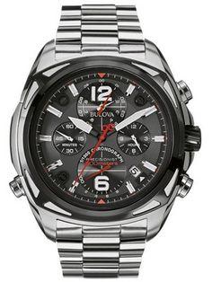Bulova Precisionist Chronograph 300M 98B227 Men's Watch