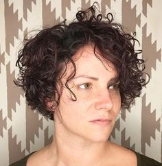 Short Shag for Curly Hair