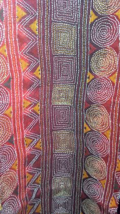 kantha stitch India similar to sashiko. I could re intemperate this stitch in hand and by machine