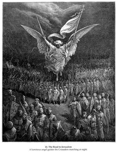The Road to Jerusalem Artist: Gustave Dore Completion Date: 1877 Gustave Dore, Norman Rockwell, Rockwell Kent, Templer, Arte Obscura, Biblical Art, Art Database, Angels And Demons, Angel Art