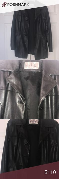Women's Black Leather Jacket Nicole Miller ! Women's Black Leather Jacket Nicole Miller New ! , Perfect Condition! (NEGOTIABLE) Nicole Miller Jackets & Coats
