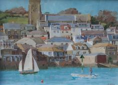 Richard DACK-Salcombe - Paintings of seaside towns at the www.redraggallery.co.uk