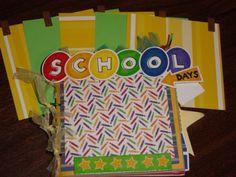 School Memories 6x6 paper bag album...lots of pages!