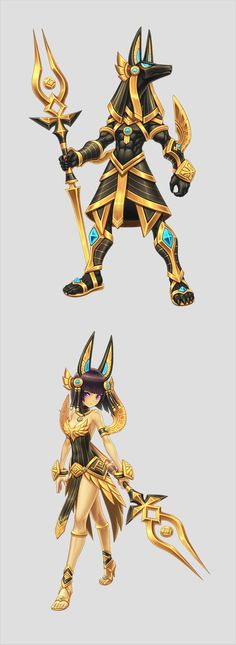 lost saga hereos at DuckDuckGo Anime Egyptian, Egyptian Art, Egyptian Anubis, Character Concept, Character Art, Concept Art, Chibi, Egyptian Mythology, Character Design References