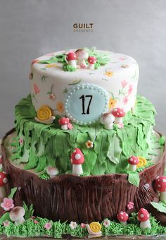 Birthday Cake Ideas Enchanted Forest Theme : 1000+ images about Zip wire cakes on Pinterest Fondant ...